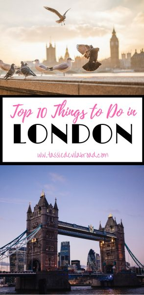 My favourite things to do in London!