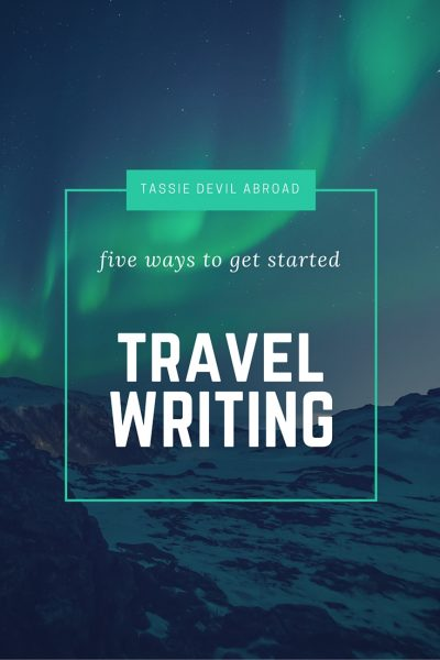 get started travel writing
