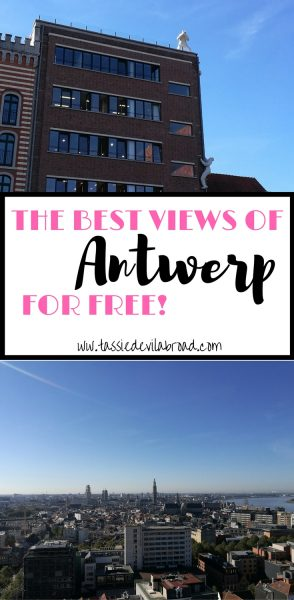 Where to see stunning views over the city of Antwerp, completely free!