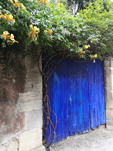 A doorway in Malacène, a town in Provence, France