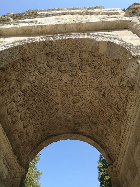 Triumphal Arch in Orange, a town in Provence, France