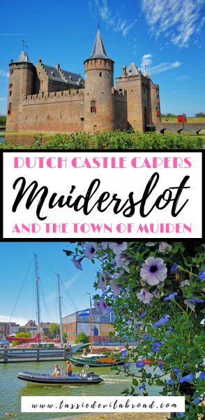 Find out everything you need to know about visiting the beautiful Dutch castle Muiderslot in the town of Muiden! #Holland #travel #castles #Dutchcastle