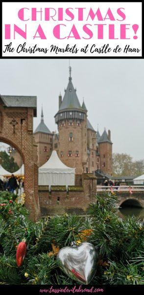 All the details and inspiring photos of the Country and Christmas Fair, an annual festive tradition at Castle de Haar in the Netherlands. #christmasmarkets #castle #europetravel