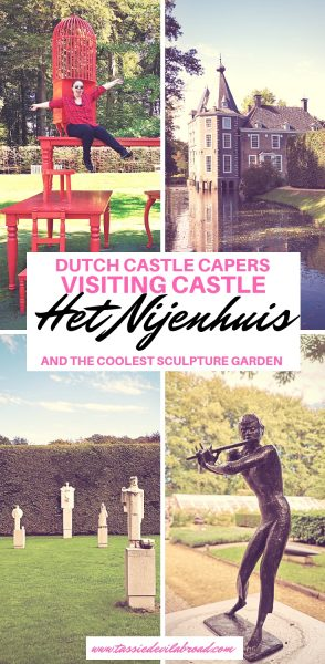 Castle Het Nijenhuis near Zwolle has one awesome sculpture garden! Find out how to plan your visit here. #castles #netherlands #travel #sculpture