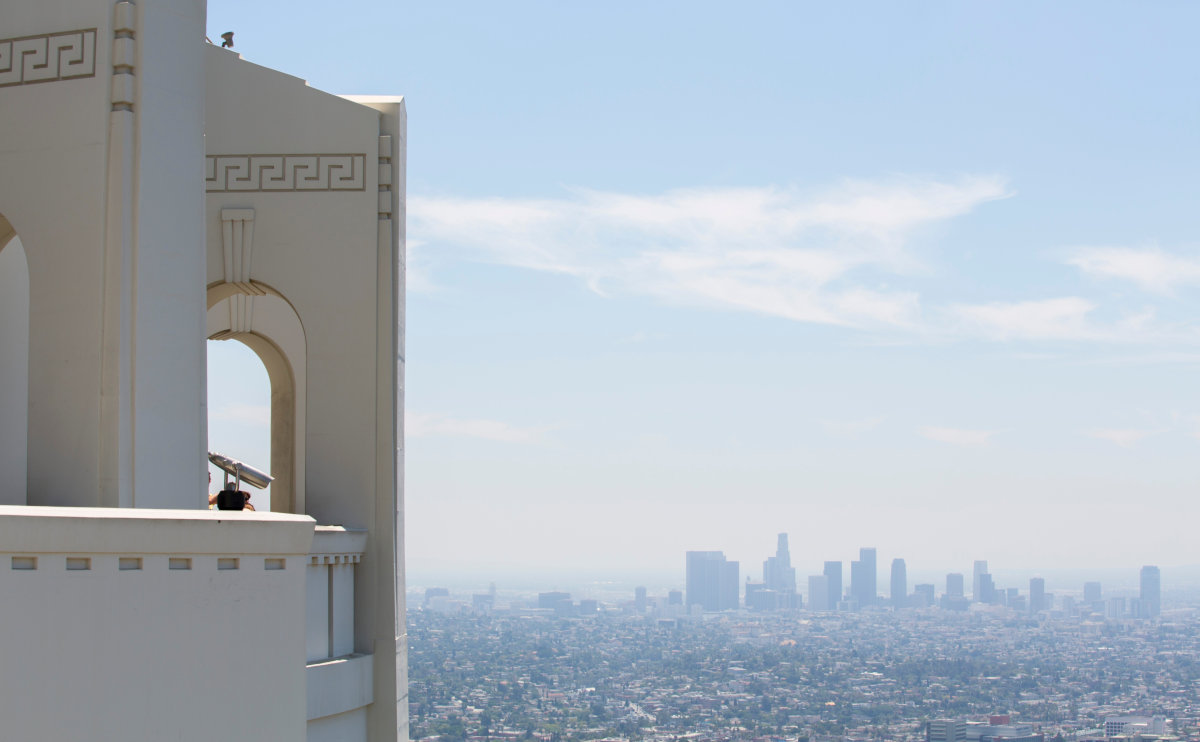 The views from real life Griffith Observatory in Los Angeles, which GTA V is based on.