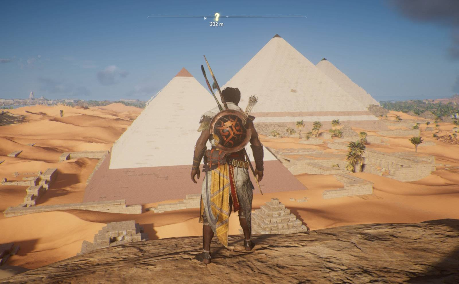 The best video games to inspire travel - in Assassin's Creed Origins you can actually climb on top of the great pyramids at Giza!