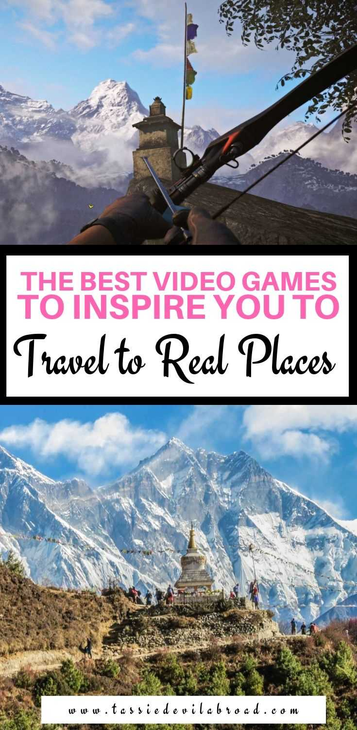Video games that will make you want to pack your bags and travel to real places. #videogametravel