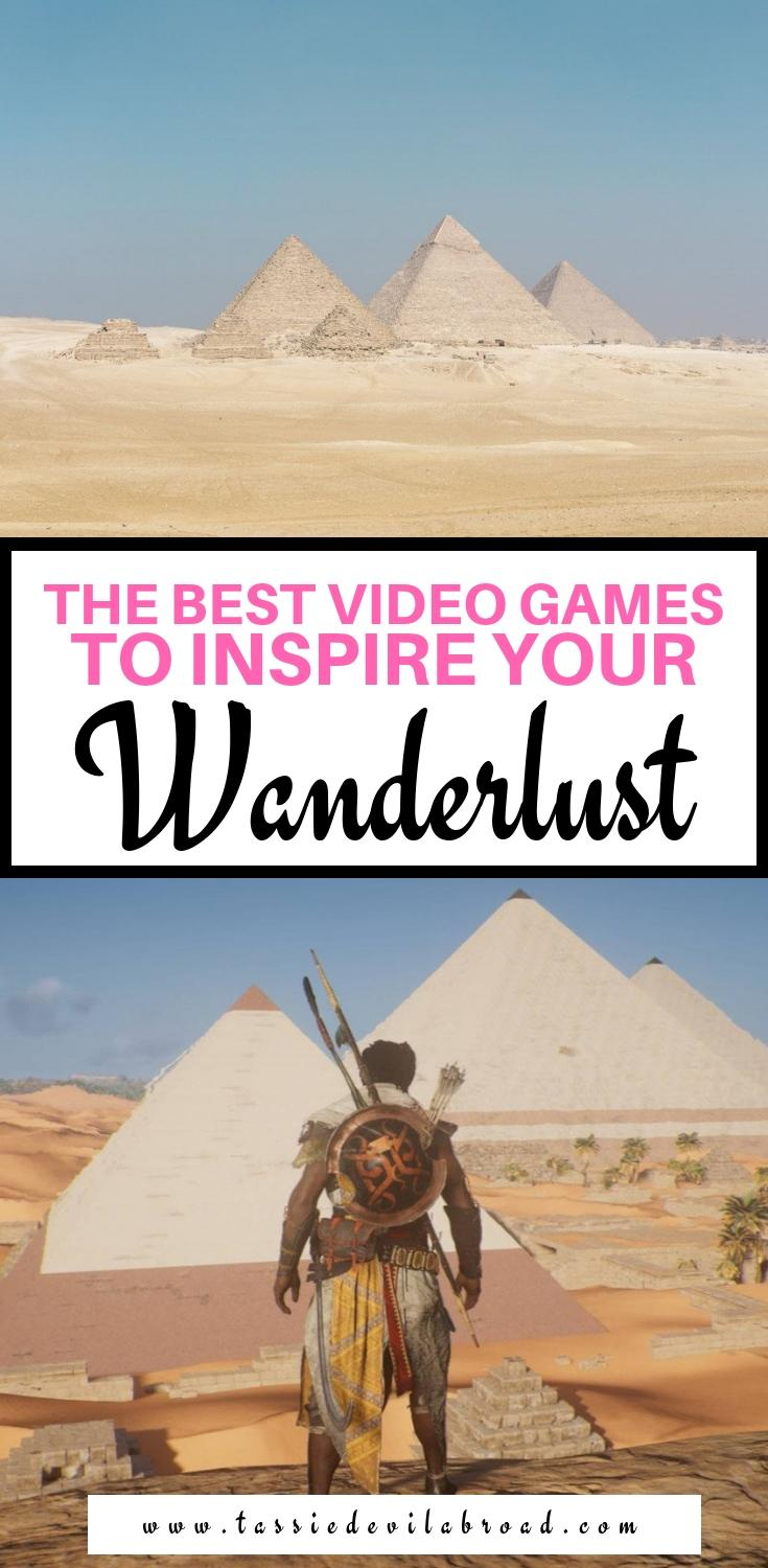 A guide to the best video games based on real places that will inspire you to travel! #travel #videogames #wanderlust